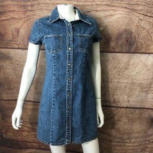 Gap Women's Denim Dress Snap Front Size 8
